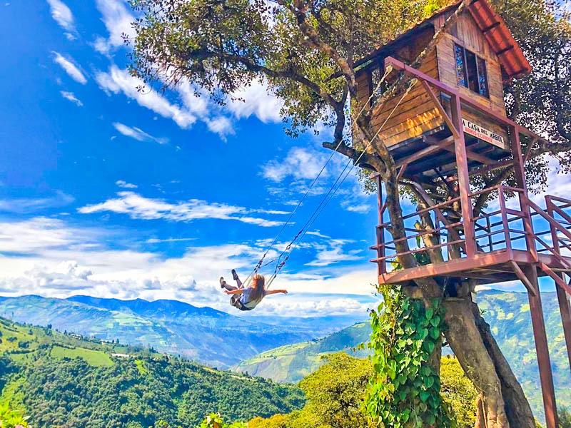 Tour Zip Line + Tarabita & Puente Tibetano en Baños - Turismoi.ec